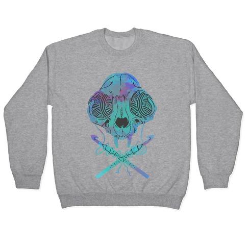 Cat Skull & Crochet Hooks Pullover