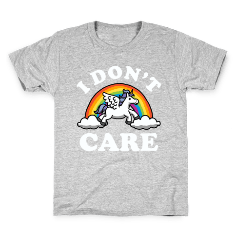 I Don't Care (Unicorn) Kids T-Shirt