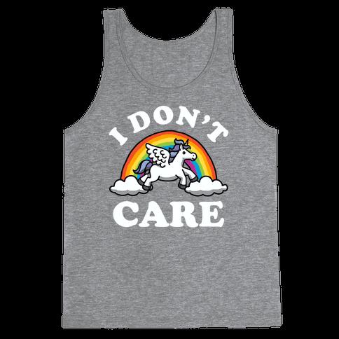 I Don't Care (Unicorn) Tank Top