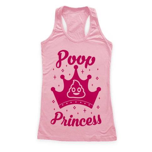 Poop Princess Racerback Tank Top