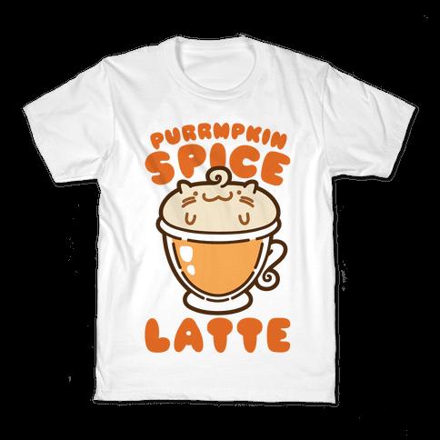 Purrmpkin Spice Latte Kids T-Shirt
