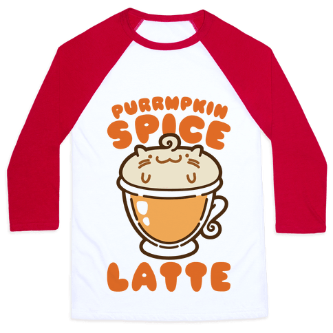 Purrmpkin Spice Latte Baseball Tee