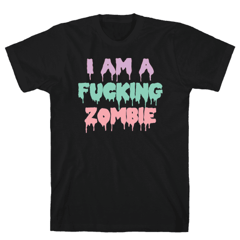 I Am A F***ing Zombie (Pastel) Mens T-Shirt