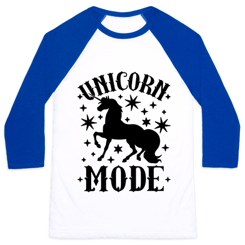 Unicorn Mode Baseball Tee