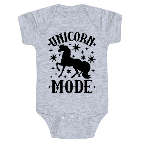 Unicorn Mode Baby Onesy