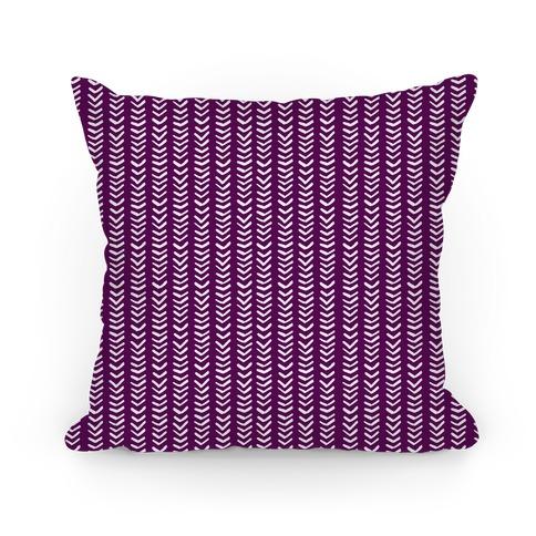 Mini Purple Chevron Pattern Pillow