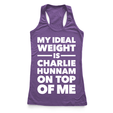 Ideal Weight (Charlie Hunnam) Racerback Tank Top