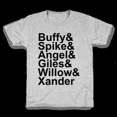 Buffy Names Kids T-Shirt
