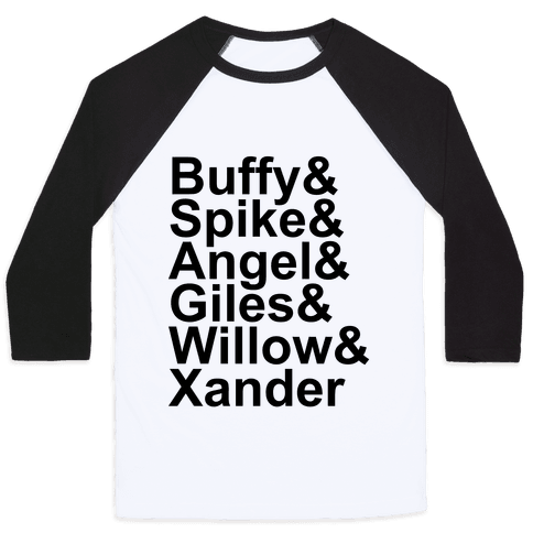 Buffy Names Baseball Tee