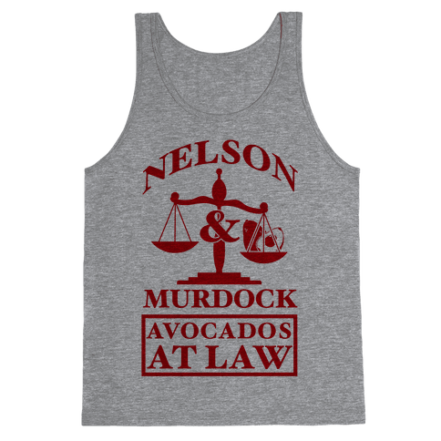 Nelson & Murdock Avocados At Law Tank Top