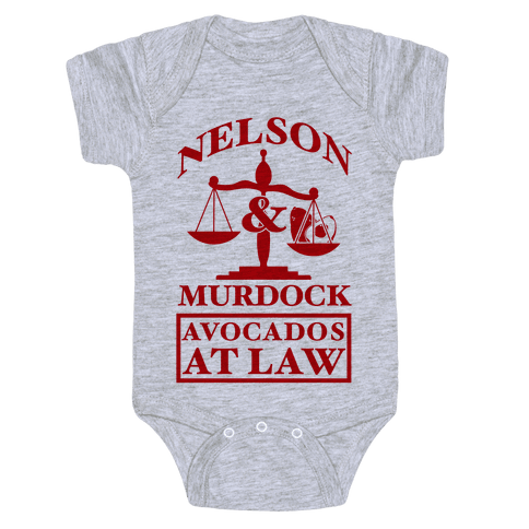 Nelson & Murdock Avocados At Law Baby Onesy