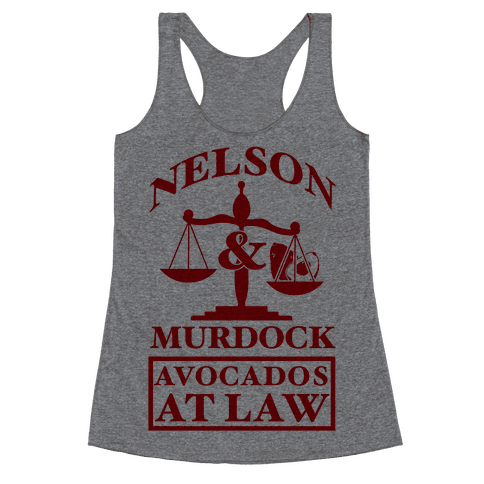 Nelson & Murdock Avocados At Law Racerback Tank Top