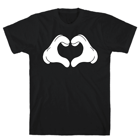 Heart Hands Mens T-Shirt