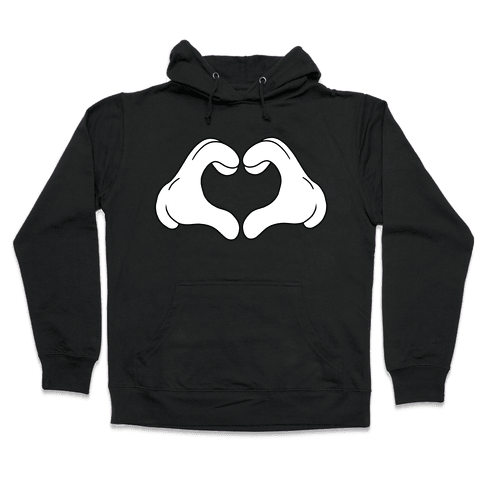Heart Hands Hooded Sweatshirt