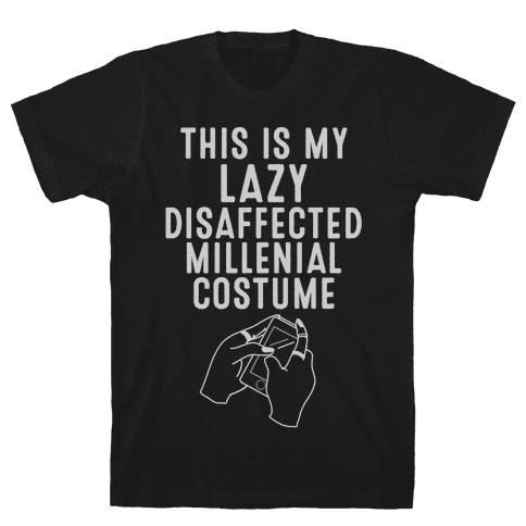 Lazy Millenial Costume Mens T-Shirt
