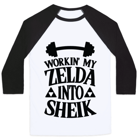 Workin' My Zelda Into Sheik Baseball Tee
