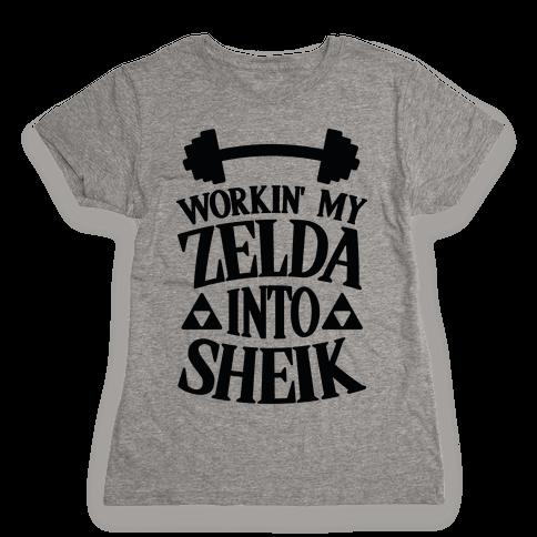 Workin' My Zelda Into Sheik Womens T-Shirt