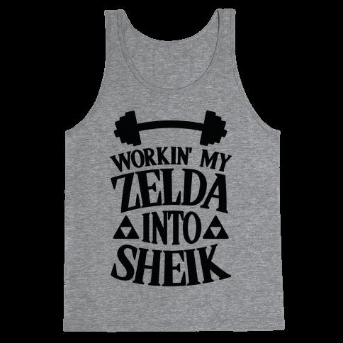 Workin' My Zelda Into Sheik Tank Top