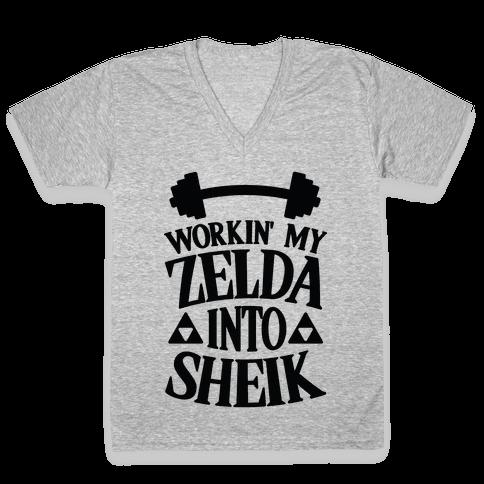 Workin' My Zelda Into Sheik V-Neck Tee Shirt