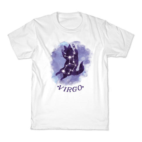 Cat Zodiac: Virgo Kids T-Shirt