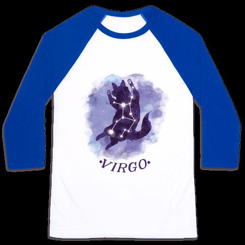 Cat Zodiac: Virgo Baseball Tee
