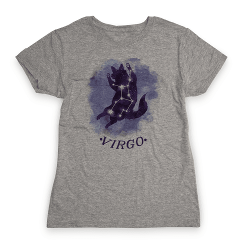 Cat Zodiac: Virgo Womens T-Shirt