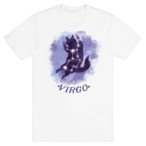 Cat Zodiac: Virgo Mens T-Shirt