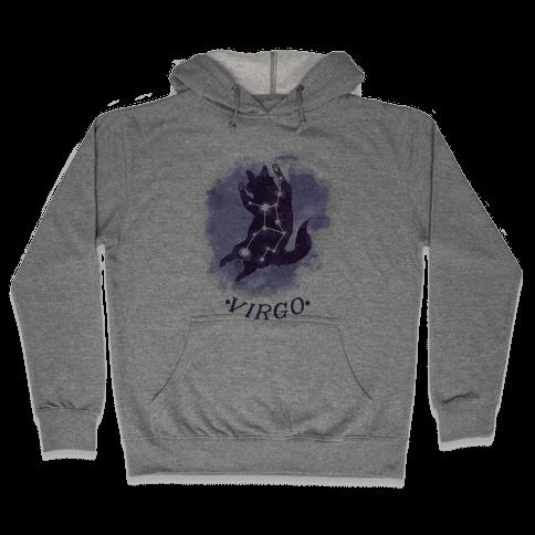 Cat Zodiac: Virgo Hooded Sweatshirt