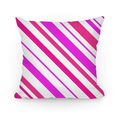 Pink Striped Pillow Pillow