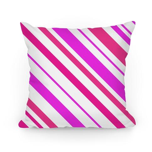 Pink Striped Pillow
