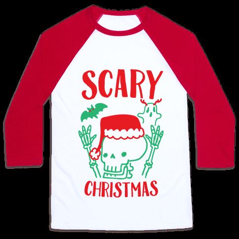 Scary Christmas  Baseball Tee