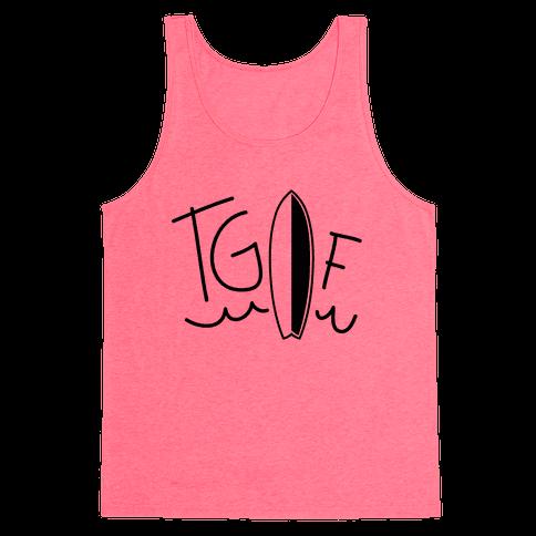 TGIF (Surfboard) (Neon) Tank Top