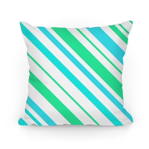 Teal Striped Pillow Pillow