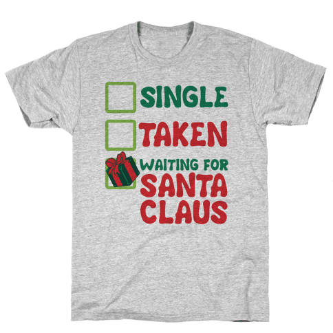 Waiting For Santa Claus Mens T-Shirt
