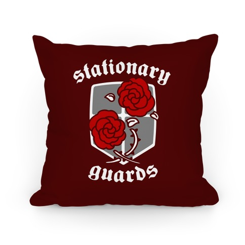 Stationary Guards Crest Pillow