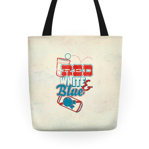 Red White and Blue Tote
