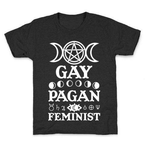 Gay Pagan Feminist Kids T-Shirt