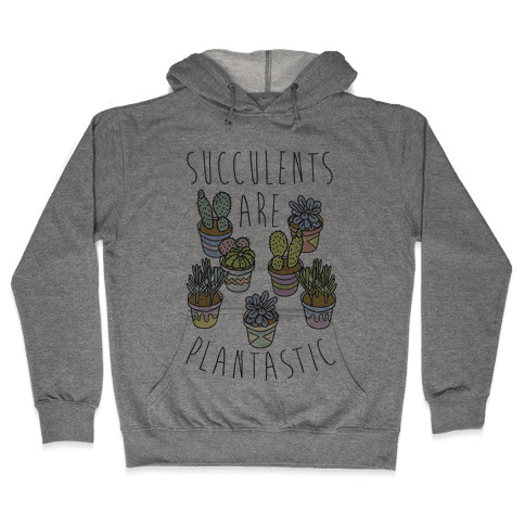 Succulents Are Plantastic Hooded Sweatshirt