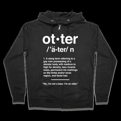 Otter Definition Zip Hoodie