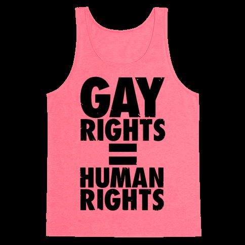 Gay Rights Equal Human Rights Tank Top