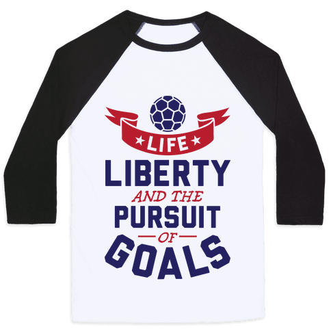 The Pursuit Of Goals Baseball Tee
