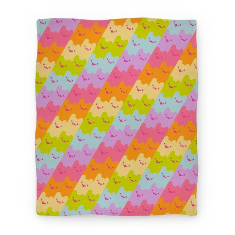 Pastel Rainbow Cats Blanket