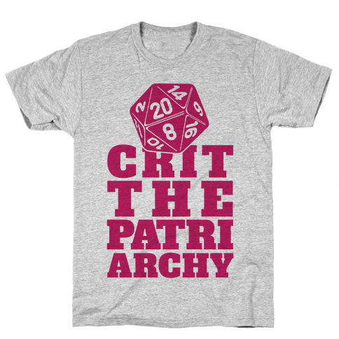 Crit The Patriarchy Mens T-Shirt