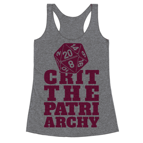 Crit The Patriarchy Racerback Tank Top