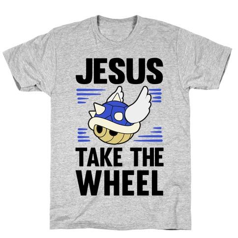 Jesus Take The Wheel Mens/Unisex T-Shirt