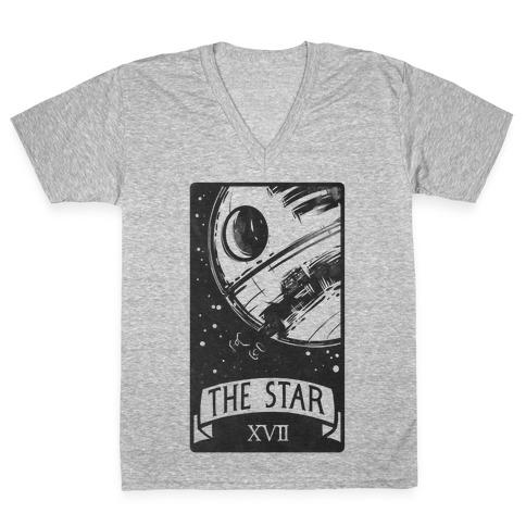 The Star Tarot Card V-Neck Tee Shirt