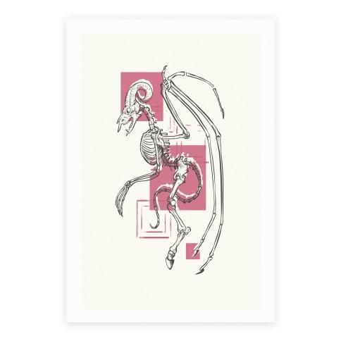 Jersey Devil Skeleton Poster