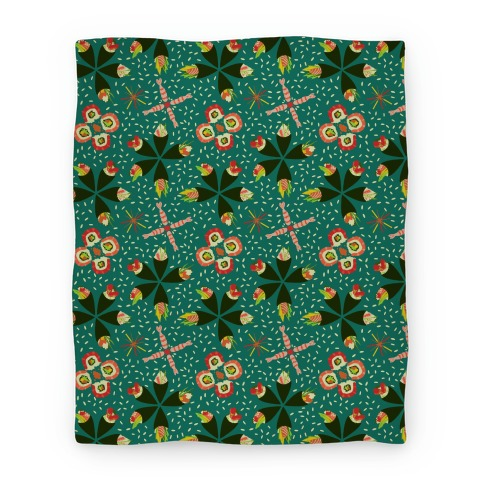 Japanese Floral Sushi Blanket