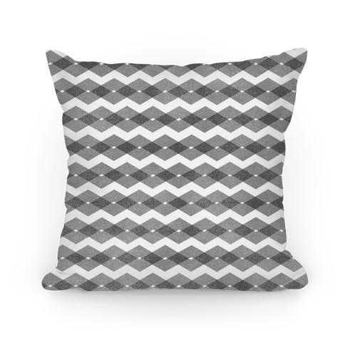 Black Zig Zag Pattern Pillow