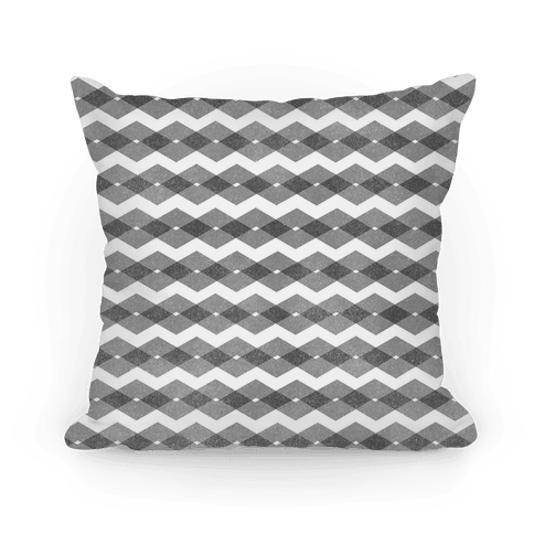 Black Zig Zag Pattern Pillow